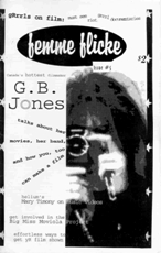 Femme Flicke Issue FiveCover photo of G.B. Jones by Johnny Noxzema
