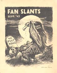 Fan Slants Issue 1 Cover Art by Ronald Clyne 1943