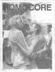 Deke Nihilson (right) on the cover of Homocore