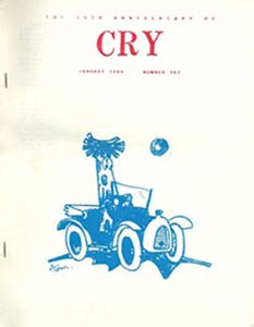 Cry (Cry of the Nameless) 1959  Cover Art by ATom