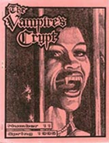 The Vampire's Crypt Issue 11 1995 Cover art by Donald W. Schank