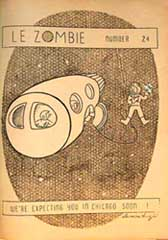 Le Zombie  Issue 24 1940 Cover by Damon Knight