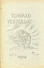 Toward Yesterday #1 (December 1943), cover art by James Kepner