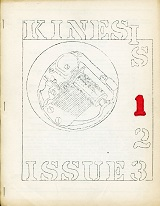 Kinesis #1 (February 1969), cover art by unknown