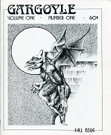 Gargoyle'  Issue 1 Fall 1975  Cover art by Russell Thornton