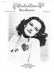 ShadowgramIssue 54/55 January 1993 Cover photo of Joan Bennett (1910-1990)