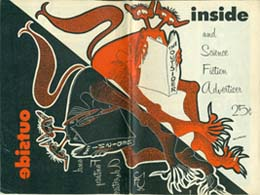 Inside and Science Fiction Advertiser Issue 14 March 1956  Back and front cover art by Pat Patterson