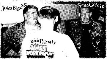 "Sean ""Goblin"" Aaberg with John Blanche and Rick Priestly in 1997."
