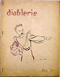 Diablerie Issue 1 1944 Cover art by Bill Watson