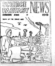 Science Fantasy News Issue 4 1949 Cover art by Arthur Williams