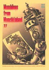 Mumblings from Munchkinland Issue 27 2009 Cover art by Brad Foster
