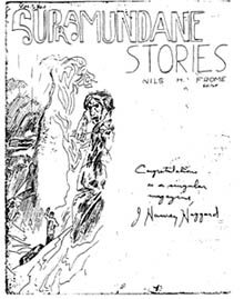 Supramundane Stories  Issue 1 January 1937 Cover by Nils Helmer Frome