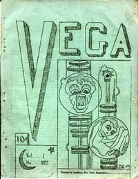 Vega Issue 8 Cover art by Margaret Dominick (as DEA) 1952