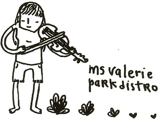 Ms Valerie Park Distro stickerDrawn by Rachel Lee-Carman