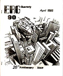 ERG  Issue 90 April 1985  Cover art by Terry Jeeves