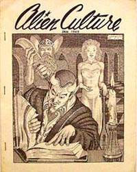 Alien Culture Vol.1 No.2 1949 Cover art by D. Bruce Berry