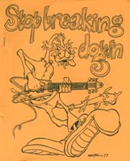 Stop Breaking Down Issue 5 1977  Cover art by Harry Bell