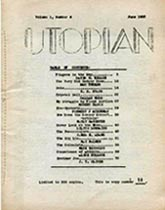 Utopian Volume 1, Number 6 June 1952