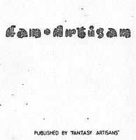 Fan Artisan Issue One 1948