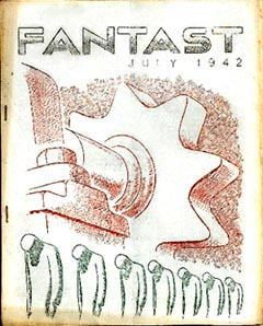 The Fantast Issue 14 July 1942 cover by Harry Turner