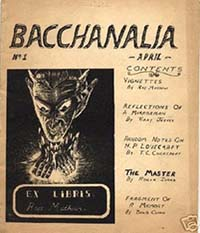 Bacchanalia, Issue One Cover art by Ray Mathews 1953