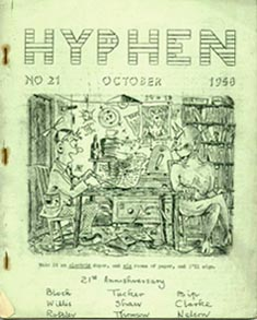 "Hyphen Issue 21 1958 Cover Art by ATom (Caption; ""Make it an electric duper, and six reams of paper, and I'll sign."")"