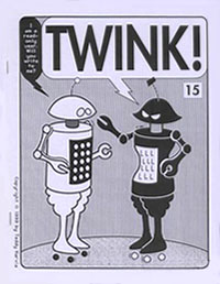 "Twink Issue 15 October 1999Cover art by Teddy HarviaCaption: ""I am a read-only user. Will you write to me?"" ""TWINK!"""