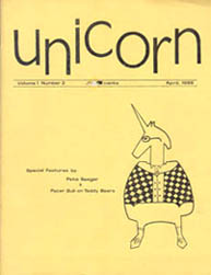 Unicorn Issue 2 Cover by Karen Rockow April 1968