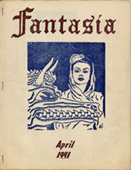 Fantasia Volume 1,  No. 2 April 1941Cover art by Lou Goldstone