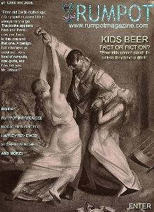 "RUMPOT MAGAZINE's Winter 2008 cover, featuring ""The Drunk"" by George Bellows."